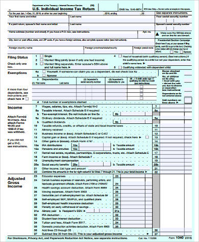 Sample Estimated Tax Form   Examples In Word Pdf