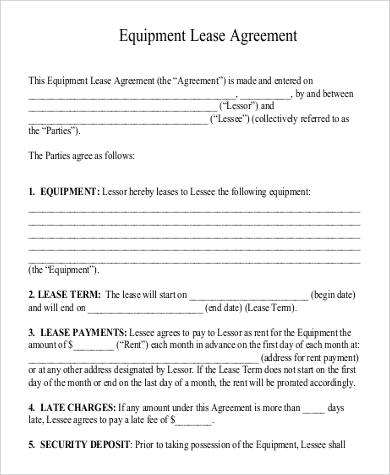 Sample Generic Lease Agreement   Examples In Word Pdf