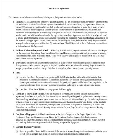9 sample generic lease agreements sample templates. Black Bedroom Furniture Sets. Home Design Ideas