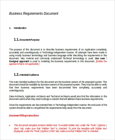 Requirements Document Samples Sample Templates - Requirements document template