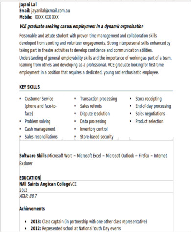 Sample Resume With No Work Experience - 7+ Examples In Word, Pdf