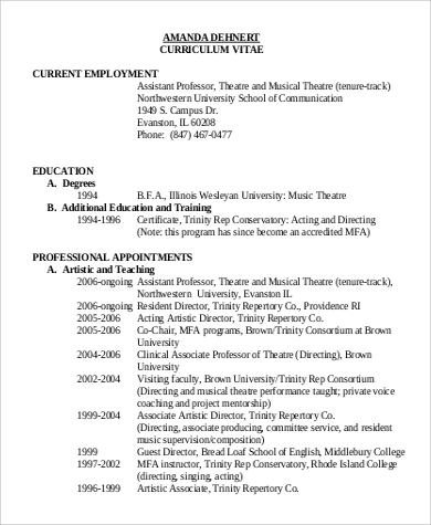 musical theatre resume template sle of acting resume