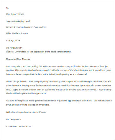 Cover Letter Sample For Resume - 0+ Examples in Word, PDF