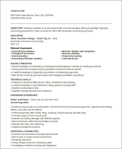 accounting resume with no work experience3