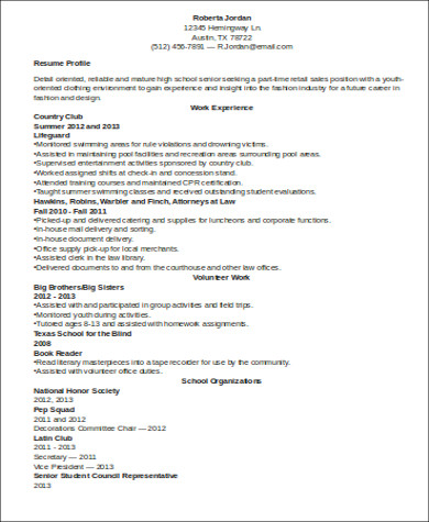 Free 7 Sample Resume With No Work Experience In Ms Word Pdf