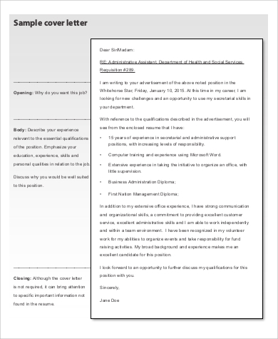 what do you mean by cover letter in resume - 9 basic resume samples sample templates