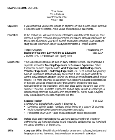 Free 9 Basic Resume Samples In Ms Word Pdf