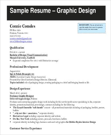 basic graphic design resume