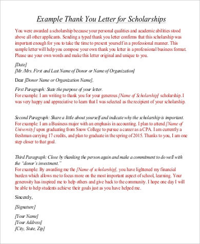 Formal Thank You Letter Samples  Templates  Free Word Pdf