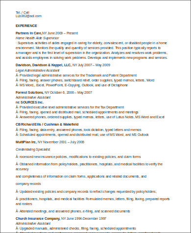 sample home health aide resume 7 examples in word pdf