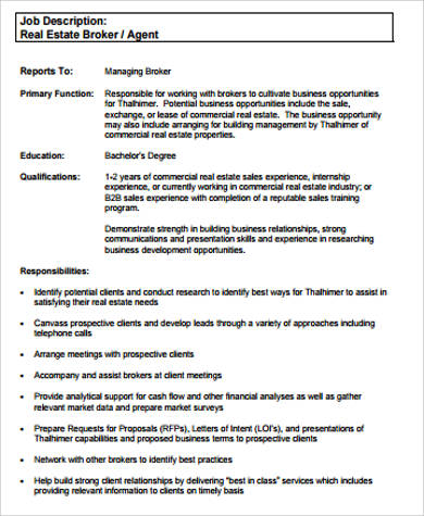 sle real estate resume 9 exles in word pdf