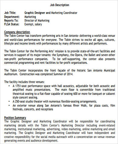 Social Media Job Description Sample   Examples In Word Pdf