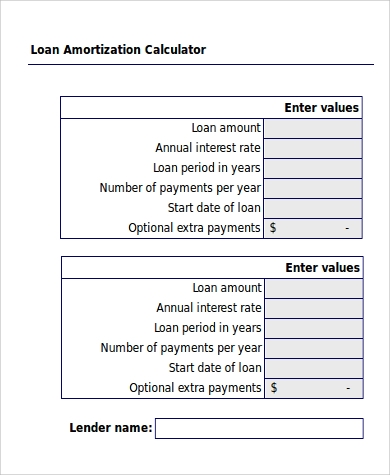 Sample Amortization Excel - 6+ Examples In Excel