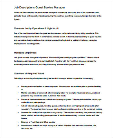 Service Manager Job Description Sample | Monster.co.uk This Resume Template  Can Be A Draft To Similar Job Titles, Such As: Client Services Manager, U2026