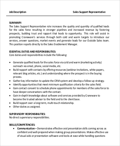 Sales Job Description Template  Resume Ideas  NamanasaCom