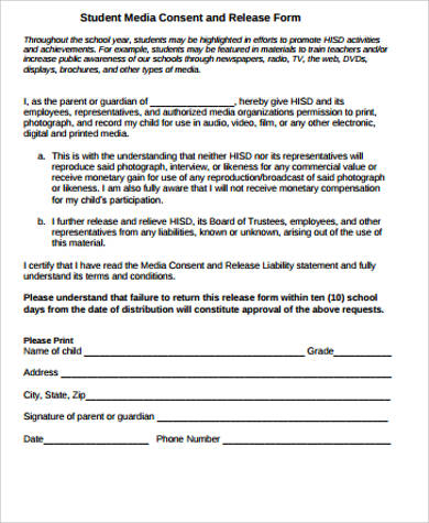 Media Release Forms Template  BesikEightyCo
