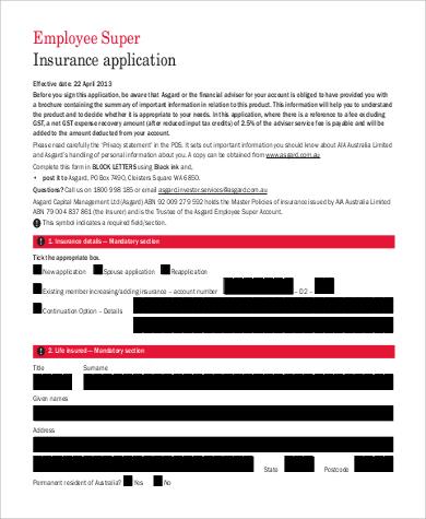 employment insurance application