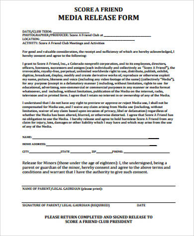 Sample Media Release Forms - 10+ Free Documents In Pdfmedia