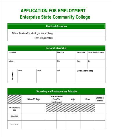 enterprise employment application
