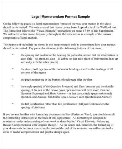 Sample Legal Memo Format   Examples In Word Pdf