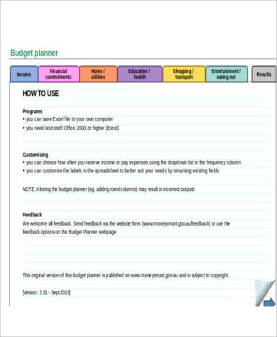 budget daytimer planner