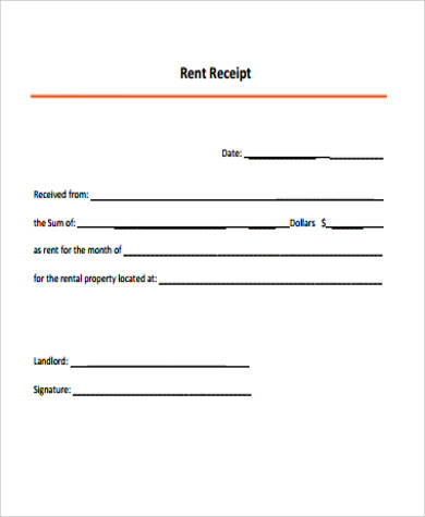 It is a picture of Printable Rent Receipt Template with doc