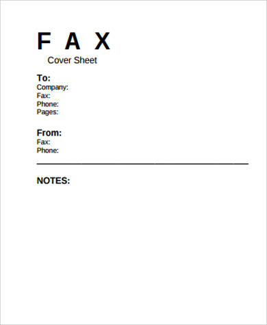 sample printable business fax cover sheet