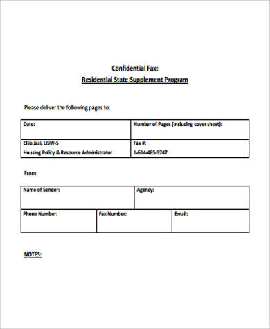 graphic about Printable Confidential Cover Sheet named Absolutely free Printable Fax Deal with Sheet - 7+ Illustrations inside of Term, PDF
