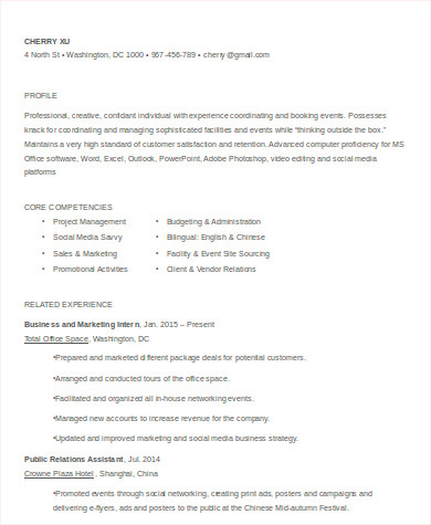 Resume Event Manager. Event Management Resume Best Resume Sample