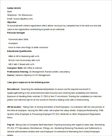 Sample MBA Resume  7 Examples