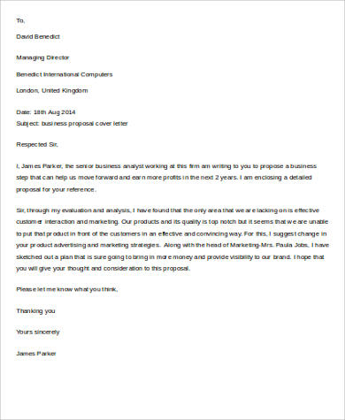 Business Proposal Letter Sample - 9+ Examples In Word, Pdf