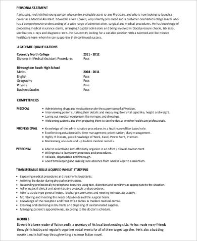 medical assistant no experience resume