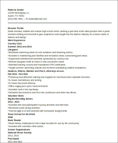 sample high school graduate resume 8 examples in word pdf