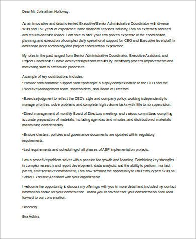 senior executive assistant cover letter sample free. Resume Example. Resume CV Cover Letter