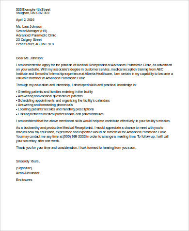 Receptionist Cover Letter Templates from images.sampletemplates.com