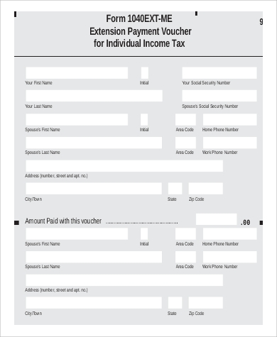 Sample Income Tax Extension Form   Examples In Pdf