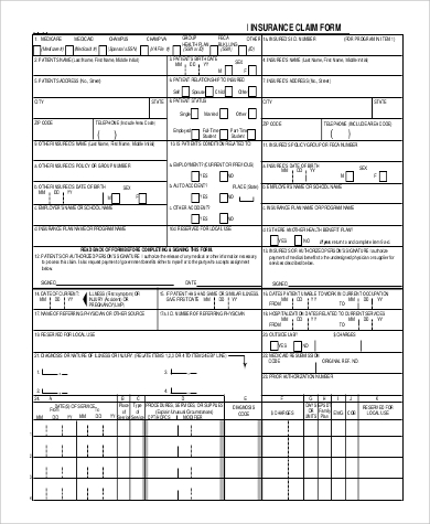 medicare insurance claim form