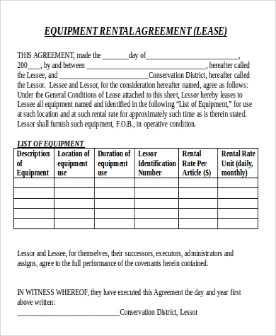 Sample Rental Agreement In Doc - 9+ Examples In Word