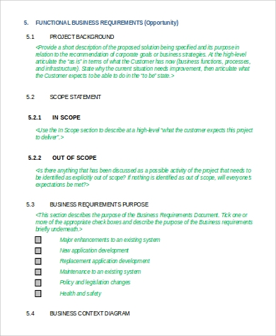functional business requirement document2