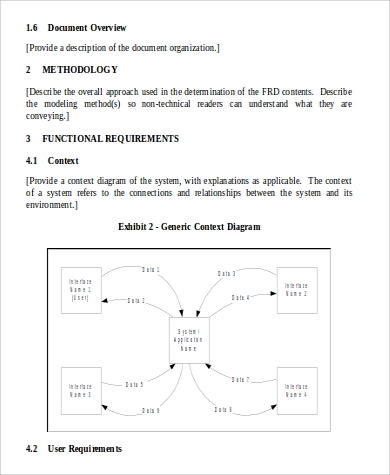 Functional Requirement Doent | Functional Requirement Document Sample 6 Examples In Word