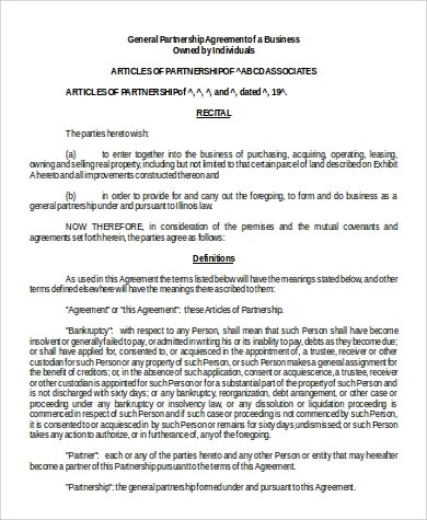 sample mutual business agreement format