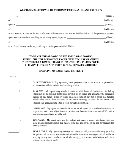 financial power of attorney form to download