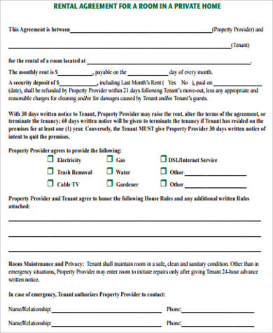 Sample Home Rental Agreement 8 Examples In Word Pdf