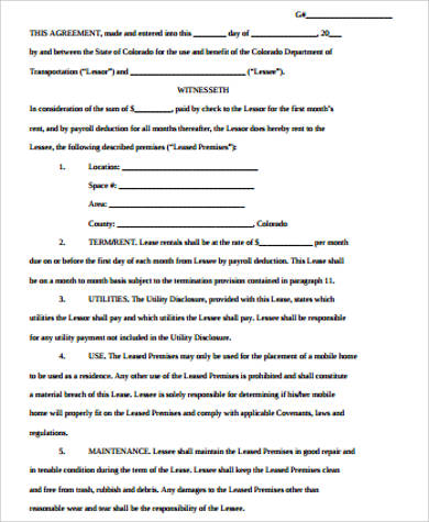 Sample Home Rental Agreement   Examples In Word Pdf