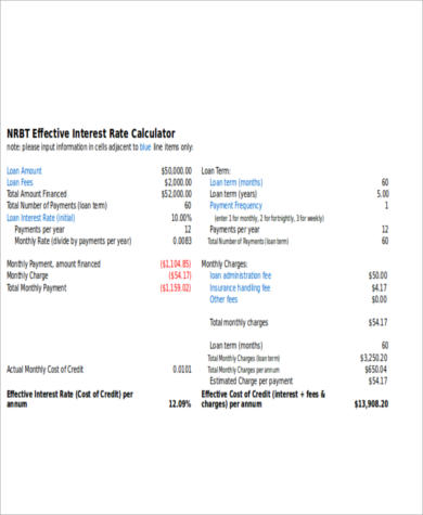 monthly interest expense calculator