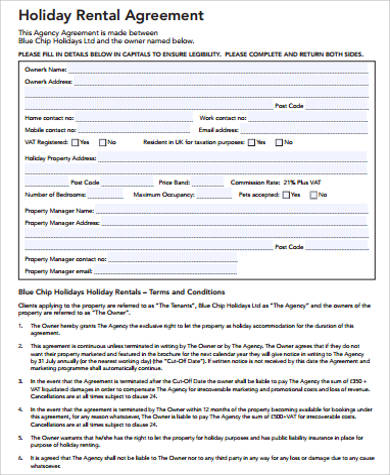 Sample Home Rental Agreement - 8+ Examples In Word, Pdf