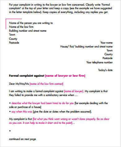 Formal Letter Example 9 Samples In Word PDF