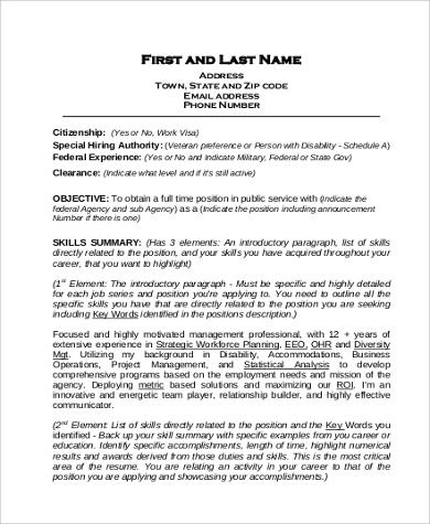 federal resume sample1