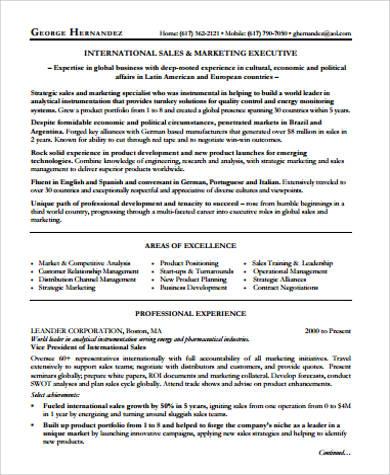 marketing executive resume1