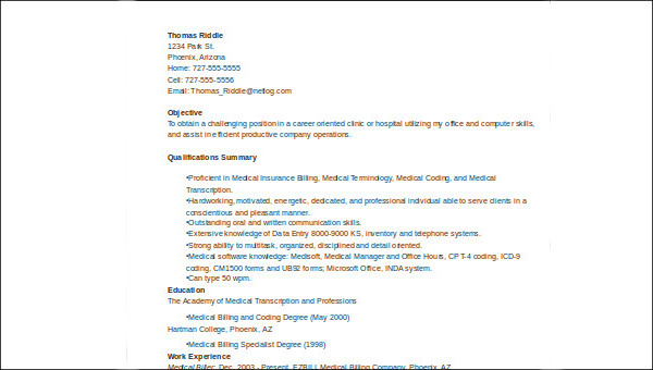 Free 6 Sample Medical Customer Service Resume Templates In Ms